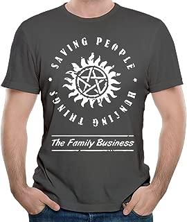 Supernatural Saving People Hunting Things Newest Gentleman Short Sleeve Tshirt Summer Clothes Tops for Men
