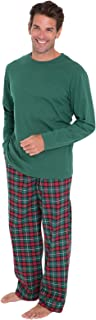 PajamaGram Mens Pajamas Set Plaid - Mens Flannel Pajama Set