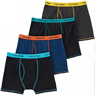 Calvin Klein Cotton Stretch Boys' Boxer Briefs (4 Pack)