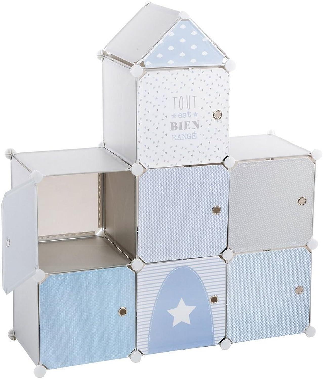 Storage unit  Castle shape  Colour blueE, GREY and WHITE