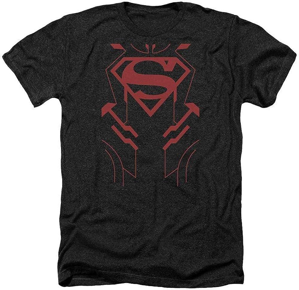Sons of Gotham JLA Superboy Adult Regular Fit Heather T-Shirt