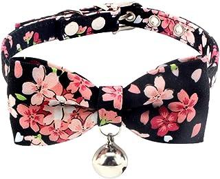 Handfly Collier pour Chat avec nœud Papillon, Collier pour Chat Floral, Collier  pour Chat
