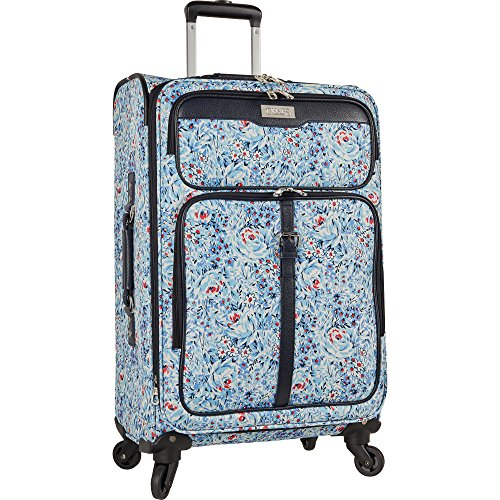 """Chaps 20"""" Expandable Carry On Spinner Luggage, Floral"""