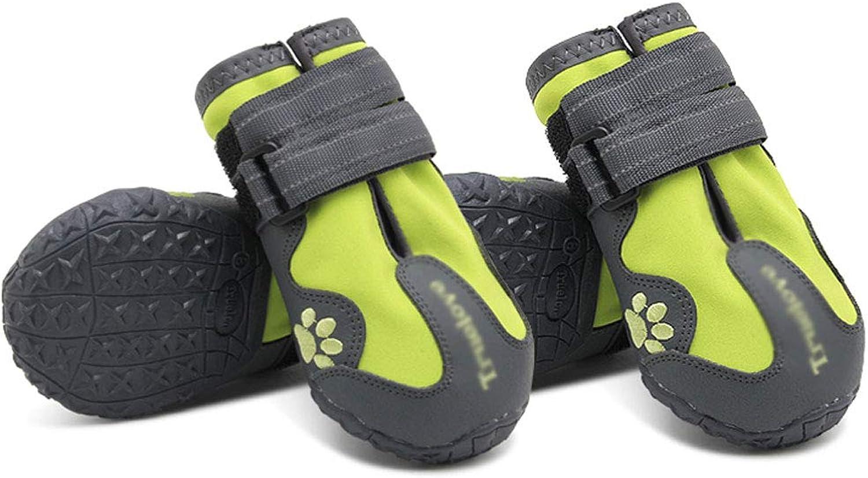 Big Dog shoes Waterproof shoes Pet shoes Satsuma Cherina golden Retriever shoes Alaska Medium and Large Dog Rain Boots (color   Green, Size   7)