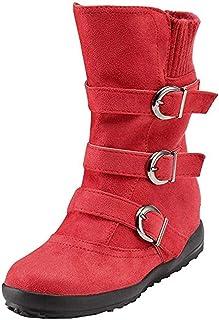 Botas rojas altas bajas con tacon planas para fiestas comodos para la mujer de hoy todo de rojo