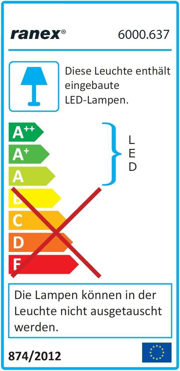 Plateado 2.8 W Ranex L/ámpara LED de Escritorio