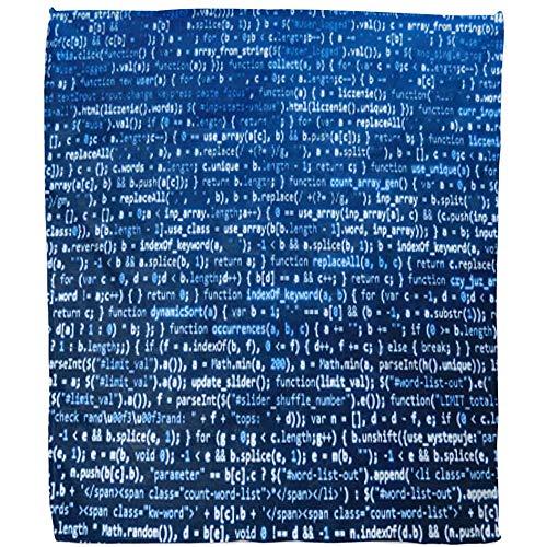 Blanket Programma Computer Bron Monitor Lijn Kleur Blauw Sofa Gooi Fuzzy zacht warm dekbed gemaakt van fleece Hotel woonkamer 102 x 127 cm