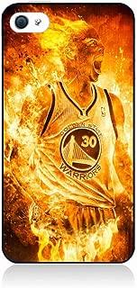 coque-personnalisable Coque pour IPHONE 5//5S Stephen Curry Golden State Warriors Shoot Basket Caoutchouc ou Plastique Semi-Rigide Contour Noir IPHONE 5//5S