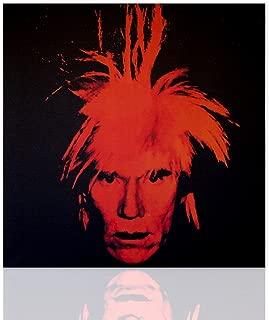 Decoración de pared Proyecto de autorretrato de reproducción de tributo Andy Warhol - pintura de decoración pop art pintada sobre lienzo lista para colgar - disponible en varios tamaños - Declea