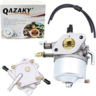 QAZAKY Carburetor + Fuel Pump for EZGO Golf Cart Gas Car 350cc Robin Engines 4-Cycle Engines Workhorse & ST350 Carb 17559 72558G01 72558G05 72840G02 Red Hawk CARB-016A Stens 520-184 72021G01