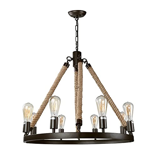 LNC Vintage Chandeliers 8 Light Kitchen Island Chandelier Lighting Rustic  Pendant Lighting