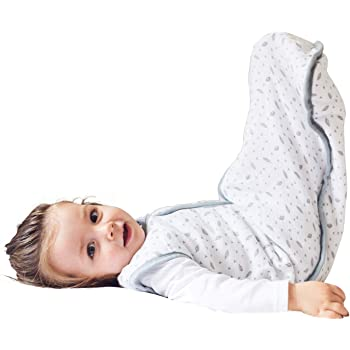 molis & co Wearable Blanket Sack for Baby, Premium Cotton Breathable Muslin Sleeping Bag Unisex for Toddlers, 18-36 Months, 0.5 TOG, Ideal for Summer