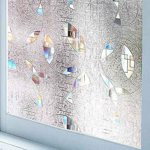 LMKJ Etiqueta engomada de la película de Vidrio de Ventana de protección UV 3D protección de privacidad Opaca Pegatina de Arco Iris película de decoración de Vidrio para el hogar C58 50x100cm