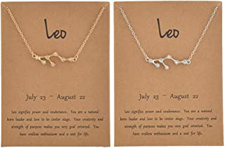 Best leo constellation necklace gold Reviews