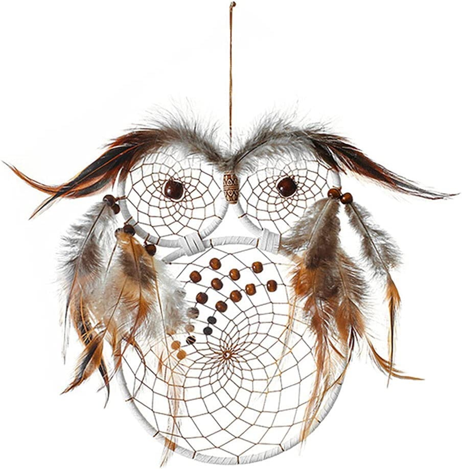 Owl-Shaped Dream Some reservation Catcher Handmade Traditional Feather Under blast sales Catc