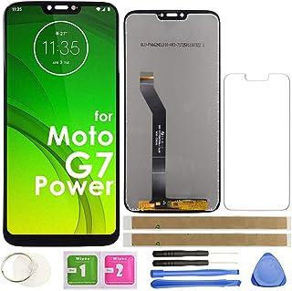 مجموعة G7 Power LCD لمحول رقمي بشاشة تعمل باللمس 6.1 بوصة 157 مم (أسود) لموتورولا موتو G7 Power XT1955-5 XT1955-6 6.1 بوصة...