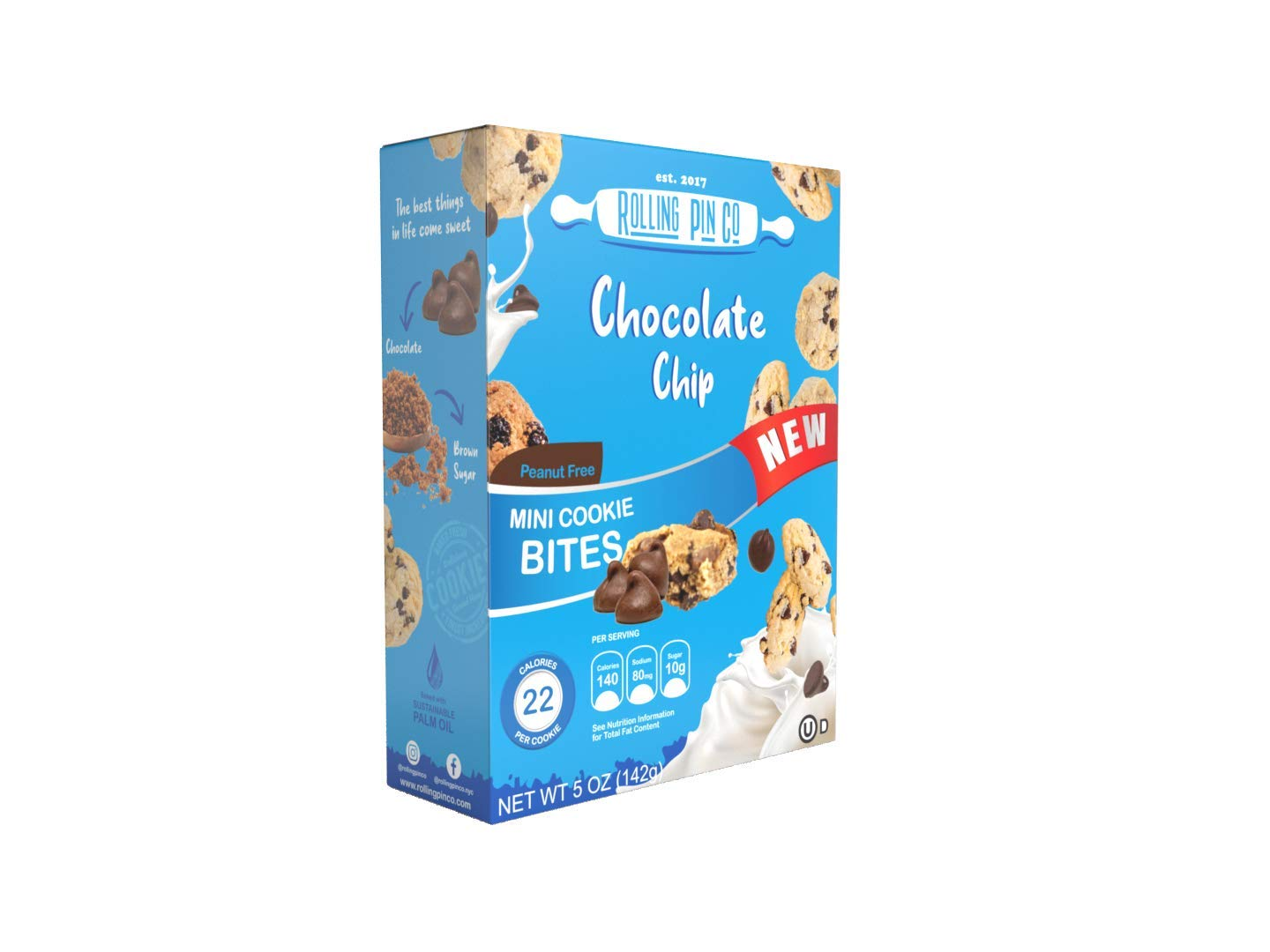 Rolling Pin Snacks - 8 Pack Free Shipping Cheap Bargain Gift Mini Chip Cookies ea Attention brand oz Chocolate 5