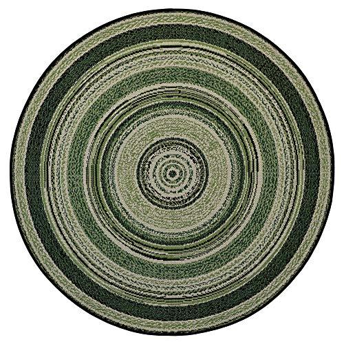 Teppich Rund Classic Vinyl Record Green 120x120cm für Innen und Außen