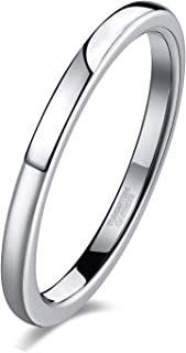 2mm 4mm 6mm 8mm Tungsten Wedding Band Ring for Men Women Black/Gold/Rose Gold/Silver Domed High Polish Comfort Fit 4-15