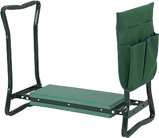 HUIJK Foldable Kneeler Garden Kneeling Bench Stool Soft Cushion Seat Pad Tool Pouch