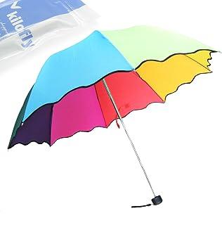 kilofly Rainbow Folding Umbrella with 8 Panels of by KF Umbrella