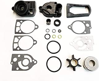 A.A Water Pump Impeller Kit + Exhaust Tube Seal for Mercury 30 35 40 45 50 60 65 70-46-77177A3,  18-3324