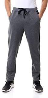 Off Cliff Cotton Contrast Side Stripe Drawstring-Elastic Waist Straight-Fit Sweatpants for Men