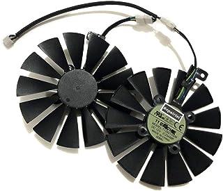 ASUS用 CERBERUS GTX1070Ti A8G GDDR5 DUAL RX580 4G ROG STRIX RX 580/570/470 ROG POSEIDON GTX1080TI ビデオカードクーラー グラフィックカードファン(T...