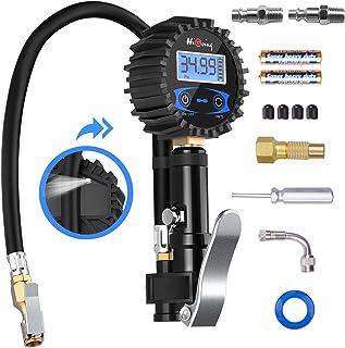 سنج فشار فشار تایر دیجیتال HiGoing ، سیستم مانیتورینگ فشار تایر (0-200Psi / 0-14Bar) لوازم جانبی چاک و کمپرسور هوا ، 12 در 1 مجموعه چک تایر اتومبیل برای هر خودرو ، کامیون ، موتور سیکلت ، RV و موارد دیگر
