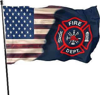 Itupzii Volunteer Firefighter Flag - Brass Grommets Vivid Color 3x5 Feet Home Decoration,Garden Decoration,Outdoor Decorat...