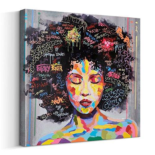 FREE CLOUD Crescent Art Abstract Pop Black Art African American Wall...