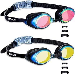 Swimming Goggles 2 Pack Swim Goggles Anti Fog Goggles...