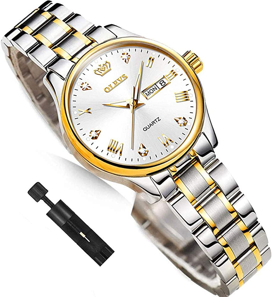 Business Women Watches Day Recommended Virginia Beach Mall Date Silver with S Gold Woman