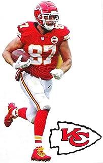 Travis Kelce Mini FATHEAD + Kansas City Chiefs Logo Official NFL Vinyl Wall Graphics 7