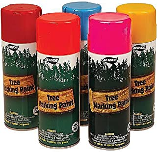 Tree Marking Paint, 16oz. Cans (Case of 12, Glo Yellow)