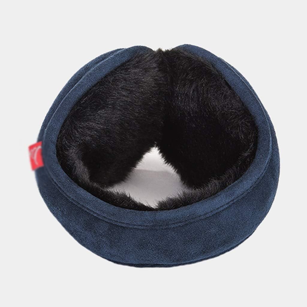Men's Earmuffs Winter Warm Ear Warmers Waterproof Unisex Adjustable Polyester Ear Muffs Foldable Comfortable Fashion (Color : Camel)