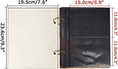 Calenzana 4x6 Heart Photo Album Love Picture Albums Book for Wedding Valentines, 120 Pockets