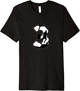 Soccer Number 3 - European Football Jersey 3 Futbol fußball Premium T-Shirt