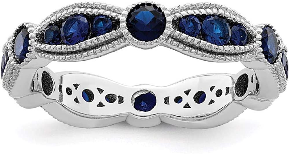 Ryan Jonathan Fine Jewelry Sterling Synthetic New product Spinel Popularity Silver Blue