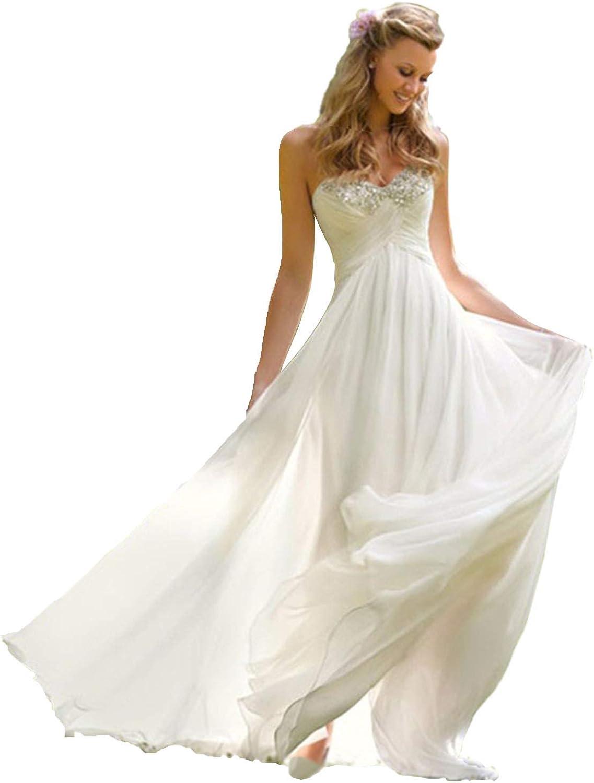 Buy Babygirls Beach Wedding Dress Plus Size for Woman Long Wedding ...