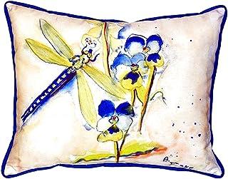 "Betsy Drake SN387 Dragonfly Pillow, 11"" x14"""