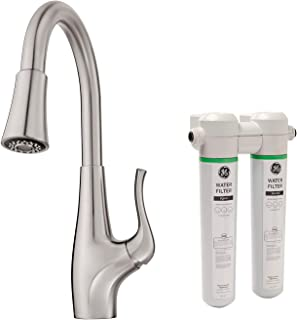 Pfister Clarify Xtract Pull Down Kitchen Faucet with Integrated GE Filtration System, Stainless Steel