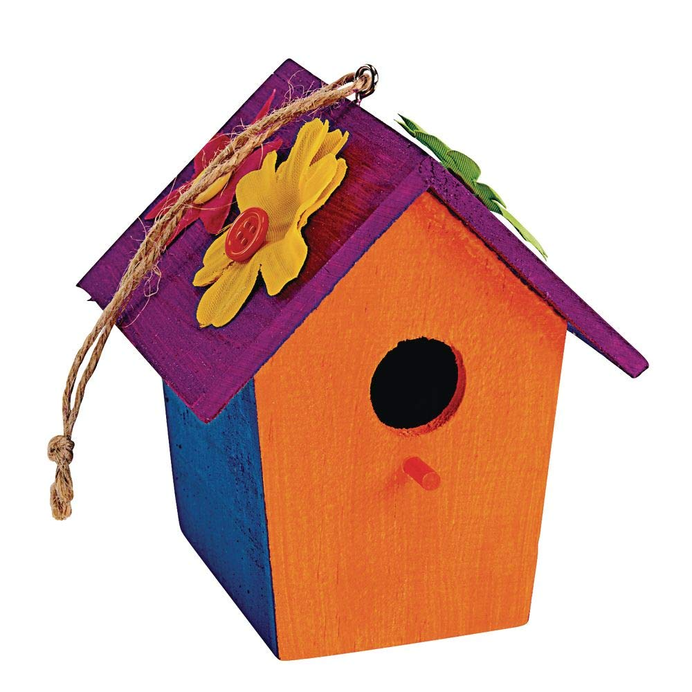 Challenge the lowest price of Japan Colorations Wooden Birdhouses Set Craft for Kids 6 Decorate Super-cheap