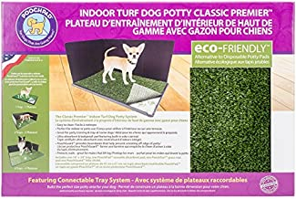 PoochPad Dog Potty Classic Premier Connectable Indoor Turf with Pad and Hike Shield, 16 x 24-Inch
