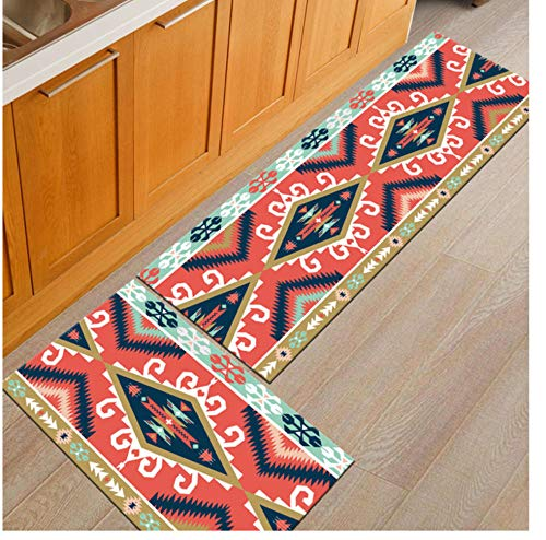 Geometric Kitchen Mat Anti-Slip Bathroom Carpet Home Entrance/Hallway Door Mat Wardrobe/Balcony Area Rug Carpets