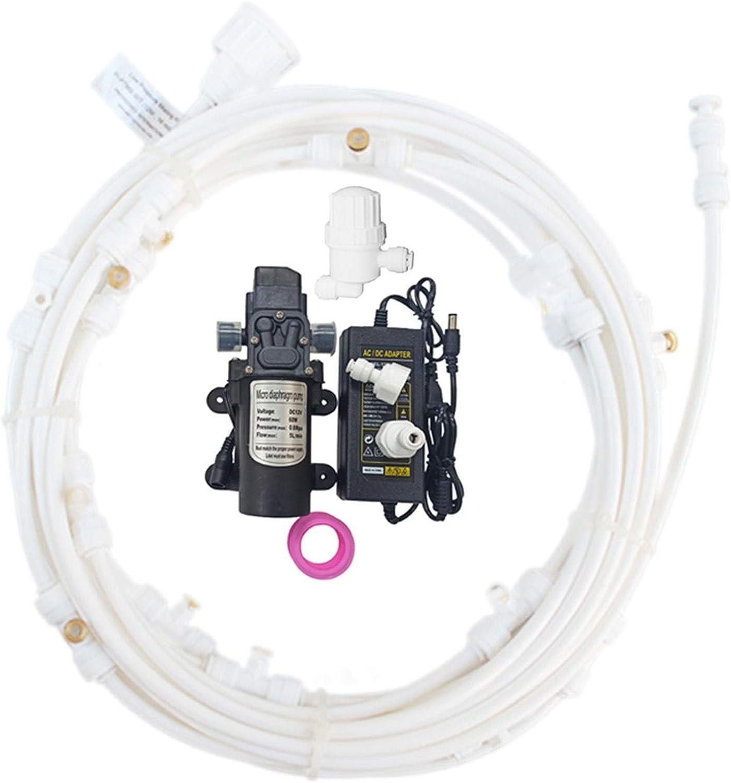 lifebea Filtro Profesional Acuario 12V Bomba del Sistema de nebulización con Las boquillas de Bronce y Filtro de Agua for nebulización nebulización aspersores Patio de humidificación de refrigeración