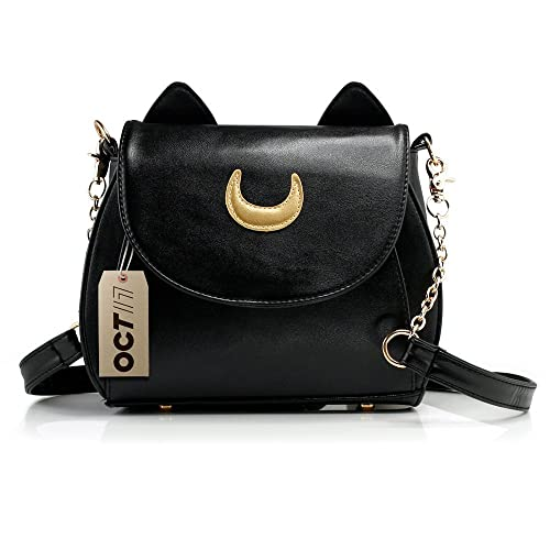 Oct17 Moon Luna Purse Kitty Cat satchel shoulder Bag Designer Women Handbag  Tote PU Leather Sailor e488469b2