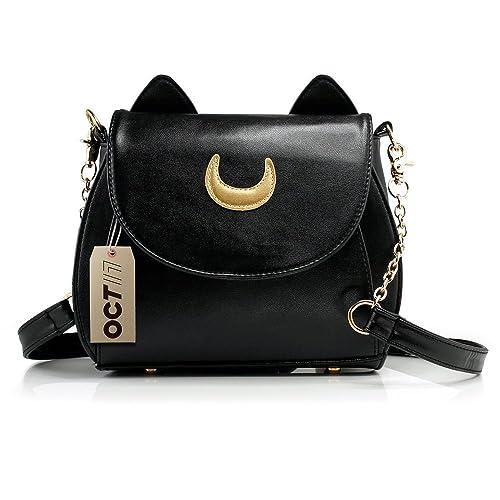 75a53082e7a3 Oct17 Moon Luna Purse Kitty Cat satchel shoulder Bag Designer Women Handbag  Tote PU Leather Sailor