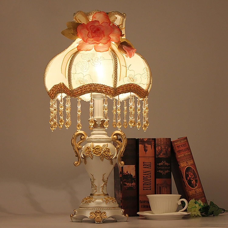 TOYM UK Europischen stil garten lampe lampe palast prinzessin zimmer spitze tuch abdeckung nachttischlampe, regelmige E27 Socket