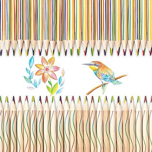 Sinwind regenbogenstifte, 30 Stücke Zeichnung Bleistift 4 in 1 Regenbogen Buntstift Set, Regenbogenstifte Kinder Regenbogenfarben Buntstift für Kunst Zeichnung, Färbung, Skizzieren Schulmaterial